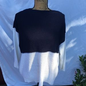 Ralph Lauren Navy and White Sweater